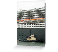 Queen Mary 2 Arrives Sydney 008 Greeting Card