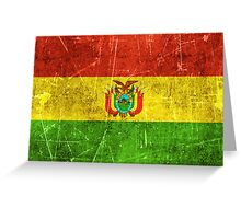 Vintage Aged and Scratched Bolivian Flag Greeting Card