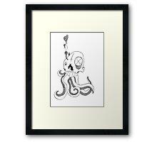 Squidy Framed Print