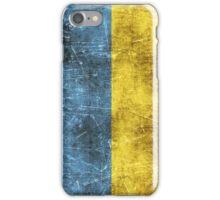 Vintage Aged and Scratched Ukrainian Flag iPhone Case/Skin