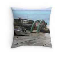 Little Bridge on the Pacific Island of Lifou. Throw Pillow