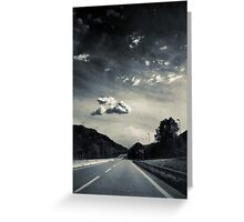 The road and the cloud Greeting Card