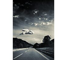 The road and the cloud Photographic Print