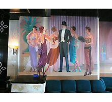 A 40's Painting on the Wall of the Entertainment Room on a Cruise Ship. Photographic Print