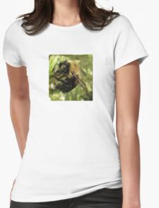 Bee Close Up Womens Fitted T-Shirt