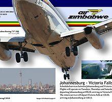 Air Zimbabwe - JHB/Victoria Falls Schedule by Paul Lindenberg