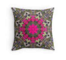 Pirates of the Pansies Fractured Throw Pillow