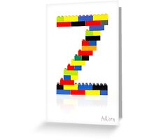 """Z"" Greeting Card"