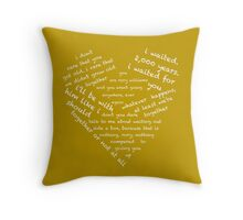 Quotes of the Heart - Amy/Rory (White) Throw Pillow