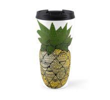 Pineapple: Gold/Green Travel Mug
