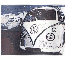 VW Splt Screen Camper 2 Poster