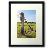 Rope and Post 2 Framed Print