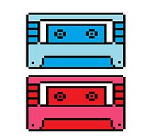 Retro Mix Tapes Photographic Print