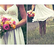 ~the bride and the bouquet ~ Photographic Print