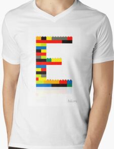 E Mens V-Neck T-Shirt