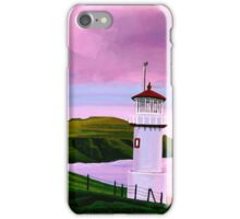 Lighthouse at Mykines Faroe Islands Painting iPhone Case/Skin