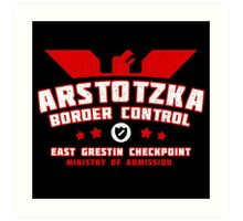 Papers Please - Arstotzka Border Control Art Print