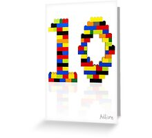 '10' Greeting Card