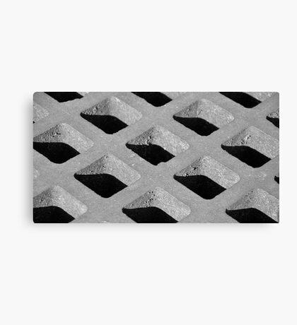 street drain bw Canvas Print