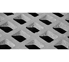 street drain bw Photographic Print