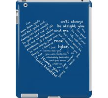 Quotes of the Heart - Doctor/Rose (White) iPad Case/Skin