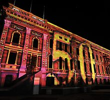 Parliament House Northern Lights by Wayne England