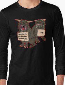 Terror Dog Shaming Long Sleeve T-Shirt