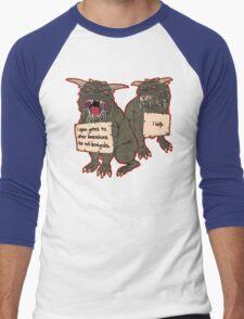 Terror Dog Shaming Men's Baseball ¾ T-Shirt
