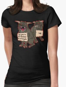 Terror Dog Shaming Womens Fitted T-Shirt