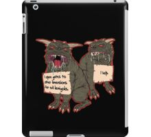 Terror Dog Shaming iPad Case/Skin