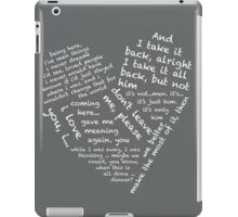Quotes of the Heart - Janto (White) iPad Case/Skin