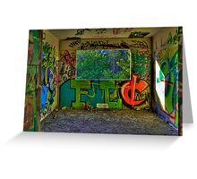 Graffiti Room with Forest View Greeting Card