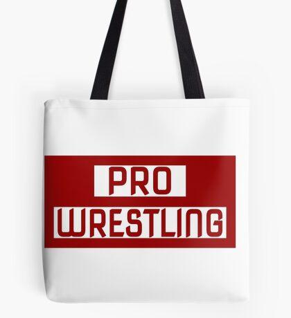 'PRO WRESTLING' Tote Bag