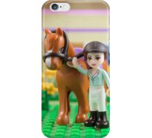Mia with her horse iPhone Case/Skin