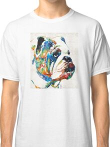 Bulldog Pop Art - How Bout A Kiss - By Sharon Cummings Classic T-Shirt