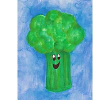 Happy Broccoli Photographic Print