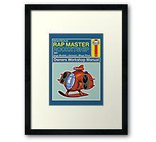 Rap Master Manual Framed Print