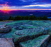 Sunset on Cadillac Mountain by bengraham