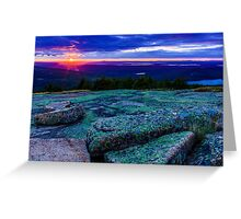 Sunset on Cadillac Mountain Greeting Card