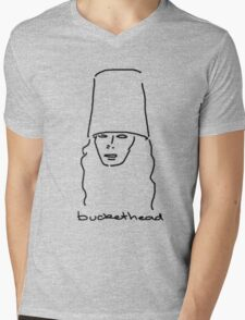 Buckethead Mens V-Neck T-Shirt