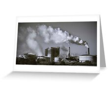 Industrial Pollution. Greeting Card
