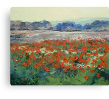 Poppies in Flanders Fields Canvas Print