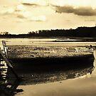 Ship wreck, the Deben, Suffolk by Kerina Strevens