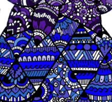 Pineapple: Royal Blue Sticker