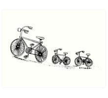 Biking family Art Print