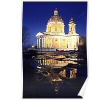 Reflecting church Poster