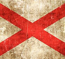 Vintage Aged and Scratched Northern Ireland Flag by Jeff Bartels