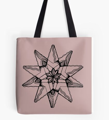 Star Tangles 3 Black - an Aussie Tangle by Heather - See Description Note for Colour Options Tote Bag