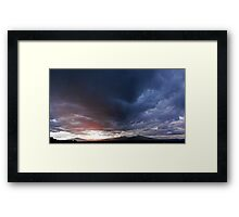 ©HCS The Final Glow Of The Day IA. Framed Print