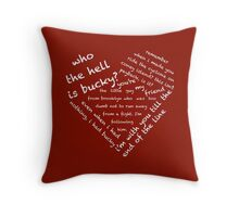 Quotes of the Heart - Stucky (White) Throw Pillow